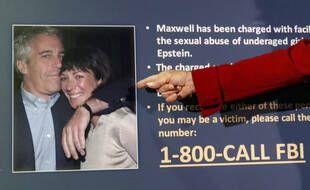 Photo de Jeffrey Epstein et son ex-compagne Ghislaine Maxwell présentée par la justice de New York le 2 juillet 2020.