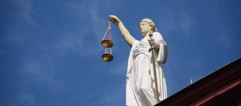 Allégorie de la justice (illustration).