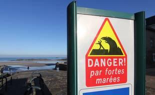 La cale de la Rochebonne, à Saint-Malo, est régulièrement submergée lors des grandes marées.