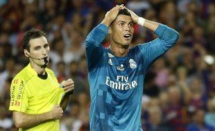 Cristiano Ronaldo s'est  fait expulser lors de Barcelone-Real Madrid en Supercoupe d'Espagne, le 13 août 2017.