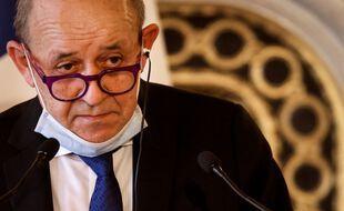 le ministre des Affaires étrangères Jean-Yves Le Drian, le 11 mars 2021 à Paris.