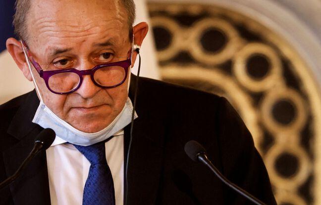 648x415 le ministre des affaires etrangeres jean yves le drian le 11 mars 2021 a paris