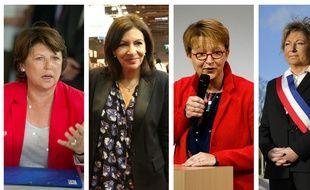 Martine Aubry, Anne Hidalgo, Nathalie Appéré et Natacha Bouchart, maires de Lille, Paris, Rennes et Calais, sont nommés pour le World Mayor 2018.