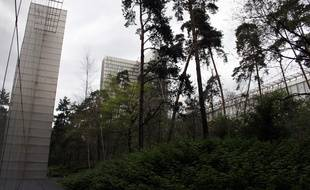 Le jardin de la BNF, dans le 13e arrondissement de Paris.