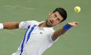 Novak Djokovic lors de la finale du Masters 1000 de Cincinnati, le 29 août 2020.