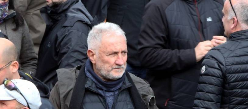 Charles Pieri lors d'une manifestation le 3 février 2018.  PASCAL POCHARD-CASABIANCA / AFP