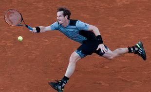 Andy Murray lors de sa victoire contre Ferrer en quart de finale de Roland-Garros, le 3 juin 2013.