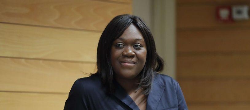 Laetitia Avia, élue dans la 8eme circonscription de Paris, le 7 juin 2017. Credit:STEPHANE ALLAMAN/SIPA