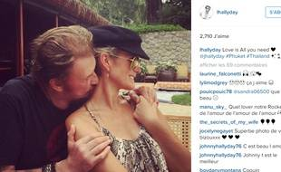 Johnny Hallyday et sa femme sur le compte Instagram de Laetitia Hallyday