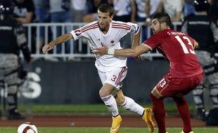 L'Albanais Ermir Lenjani (en blanc) aura causé des misères aux Bleus.