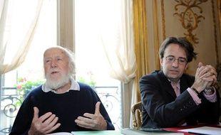 Hubert Reeves, président de la Ligue ROC, et Christophe Aubel, directeur, en 2009.