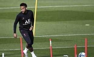 Neymar à l'entraînement au Camp des Loges, le 24 septembre 2019.