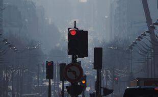 Lors d'une journée de pic de pollution, ici à Paris. (illustration).