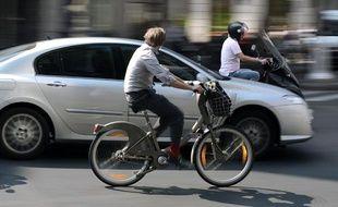 Un Vélib' en juillet 2009 à Paris.