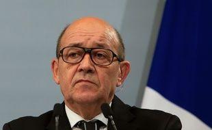 Le ministre de la Défense Jean-Yves Le Drian à Paris, le 20 janvier 2016.