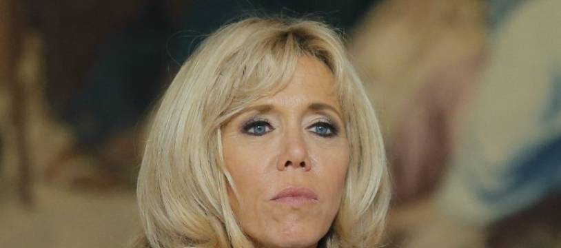 L'épouse du président, Brigitte Macron