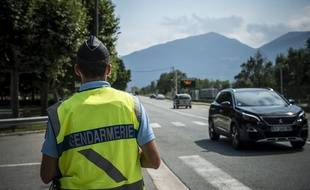Un contrôle routier de la gendarmerie à Nice (image d'illustration).