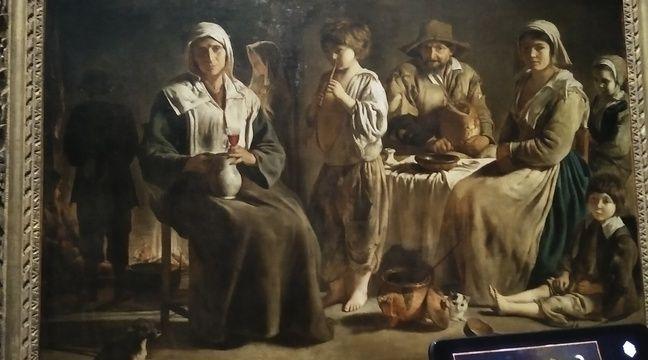 Devant «Famille de paysan», le visiteur entoure ce qui a attiré son regard dans le tableau. – C. Barrois / 20 Minutes