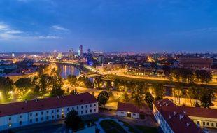 Vilnius, capitale de la Lituanie (illustration).