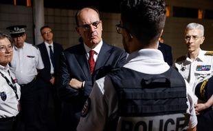 Jean Castex lors de sa première visite auprès des policiers, à La Courneuve, le 5 juillet (illustration).