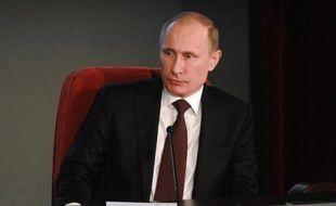 Le président russe Vladimir Poutine, à Moscou le 21 mars 2014