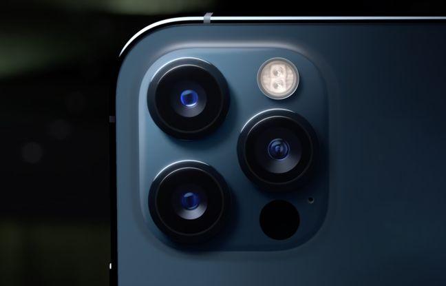 Les trois capteurs arrières des iPhone 12 Pro.