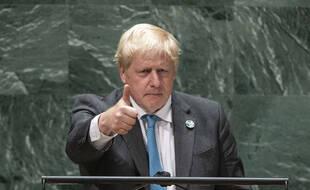 Le Premier ministre Boris Johnson à l'Assemblée de l'ONU mercredi 22 septembre 2021.