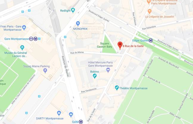 Près du 8 rue de la Gaité se trouve le square Gaston Baty.