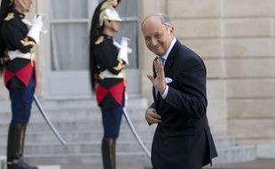 Le ministre des Affaires étrangères Laurent Fabius devant l'Elysée le 10 septembre 2014.