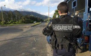 Des gendarme le 25 mai 2014 à Mont-Dore en Nouvelle Calédonie