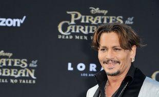 L'acteur Johnny Depp à l'avant-première de  La Vengeance de Salazar à Los Angeles