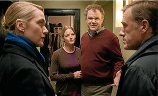 De g. à d., Kate Winslet, Jodie Foster, John C. Reilly et Christoph Waltz.