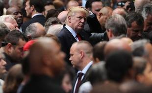 Donald Trump à New York le 11 septembre 2016 lors des commémorations organisées quinze ans après l'attentat contre le World Trade Center. PENCER PLATT / AFP