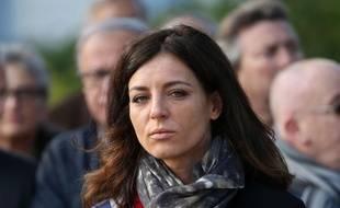 Coralie Dubost, lors de la cérémonie du 11-novembre, en 2017.