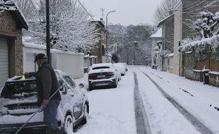Le 7 février, Saint-Maur-des-Fossés dans le Val-de-Marne sous la neige
