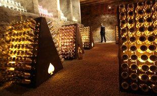 La cave du Champagne Armand de Brignac racheté dernierement par le rappeur américain Jay Z, à Rilly-la-Montagne, en 2014.