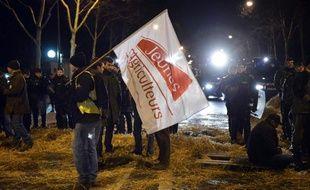 Une manifestation d'agriculteurs le 16 janvier 2014 à Paris