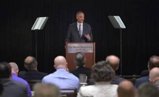 Le ministre américain de la Justice Eric Holder à Washington le 5 mai 2014