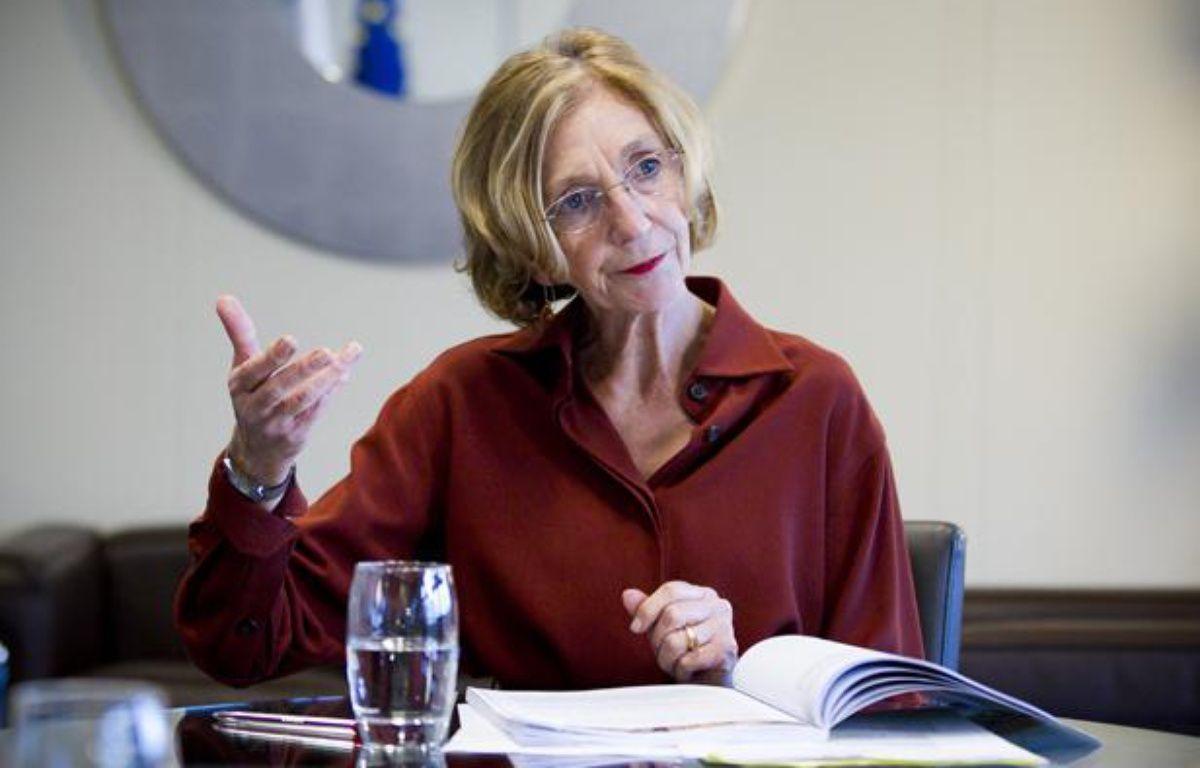 Nicole Bricq, Ministre du Commerce exterieur, en interview dans son bureau de Bercy en octobre 2012. – V. WARTNER / 20 MINUTES