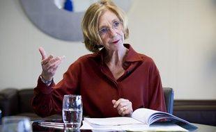Nicole Bricq, Ministre du Commerce exterieur, en interview dans son bureau de Bercy en octobre 2012.