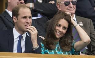 Le Prince William et Kate, duchesse de Cambridge, assistent à la finale de Wimbledon, le 13 juillet 2014.