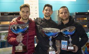 Les trois gagnants de la sélection.