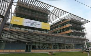 Strasbourg le 4 janvier 2016. Premier conseil régional de la nouvelle région Alsace-Champagne-Ardenne-Lorraine . Illustration Conseil Régional