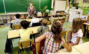 L'environnement sonore compte beaucoup pour les apprentissages fondamentaux. (Ici, dans une école à Montpellier le jour de la rentrée, en 2020)