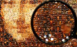 Un puzzle représentant Mona Lisa au Tokyo Toy Show