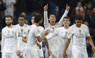 Cristiano Ronaldo fête son but contre Malmö le 8 décembre 2015.