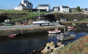Vue de l'île d'Ouessant, au large du Finistère.