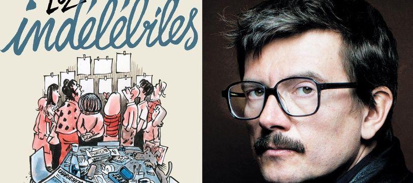 La couverture d'Indélébiles et un portrait de Luz, son auteur