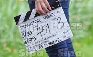 Sur le tournage de la série «Downton Abbey» (illustration).