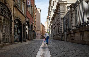Le vieux Lyon, le 16 avril 2020.